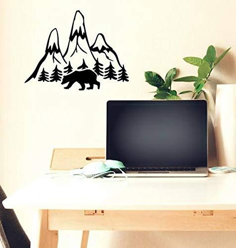 stickers muraux 3d new york Montagne et ours en marche