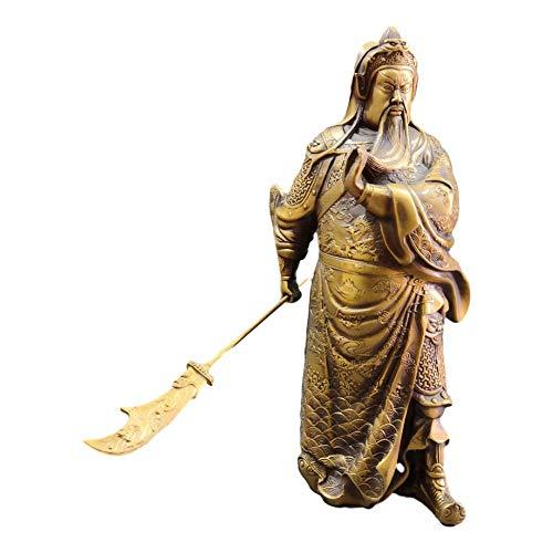 LAOJUNLU Colección de bronce antiguo Guan Gong de imitació