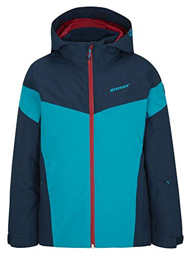 Ziener Jungen ATLA Junior Kinder Skijacke, Winterjacke | Wasserdicht, Winddicht, Warm, Dark Navy, 152