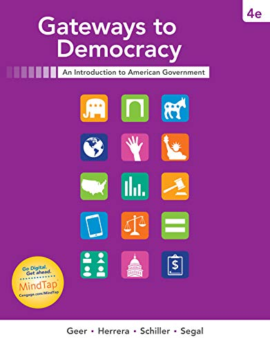 MindTap Political Science, 1 term (6 months) Printed Access Card for Geer/Herrera/Schiller/Segal's Gateways to Democracy