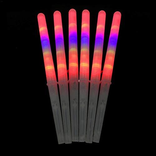 Rvest 6pc/Set Leuchtstäbe Leuchtstab,Zuckerwatte-Zapfen Bunt-Leuchtende Marshmallow-Sticks