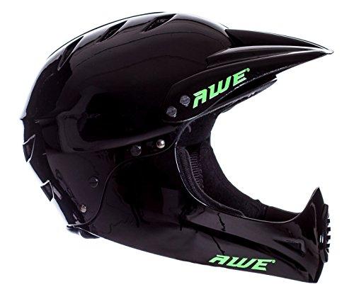 AWE® BMX Full Face Helm schwarz, Größe M 54–58 cm - 2