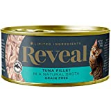 Reveal - Grain Free | Wet Canned Cat Food | 2.47oz - 24 Pack - Premium Nutrition, 100% Natural, No Additives, and Limited Ingredients … (Tuna Filet)