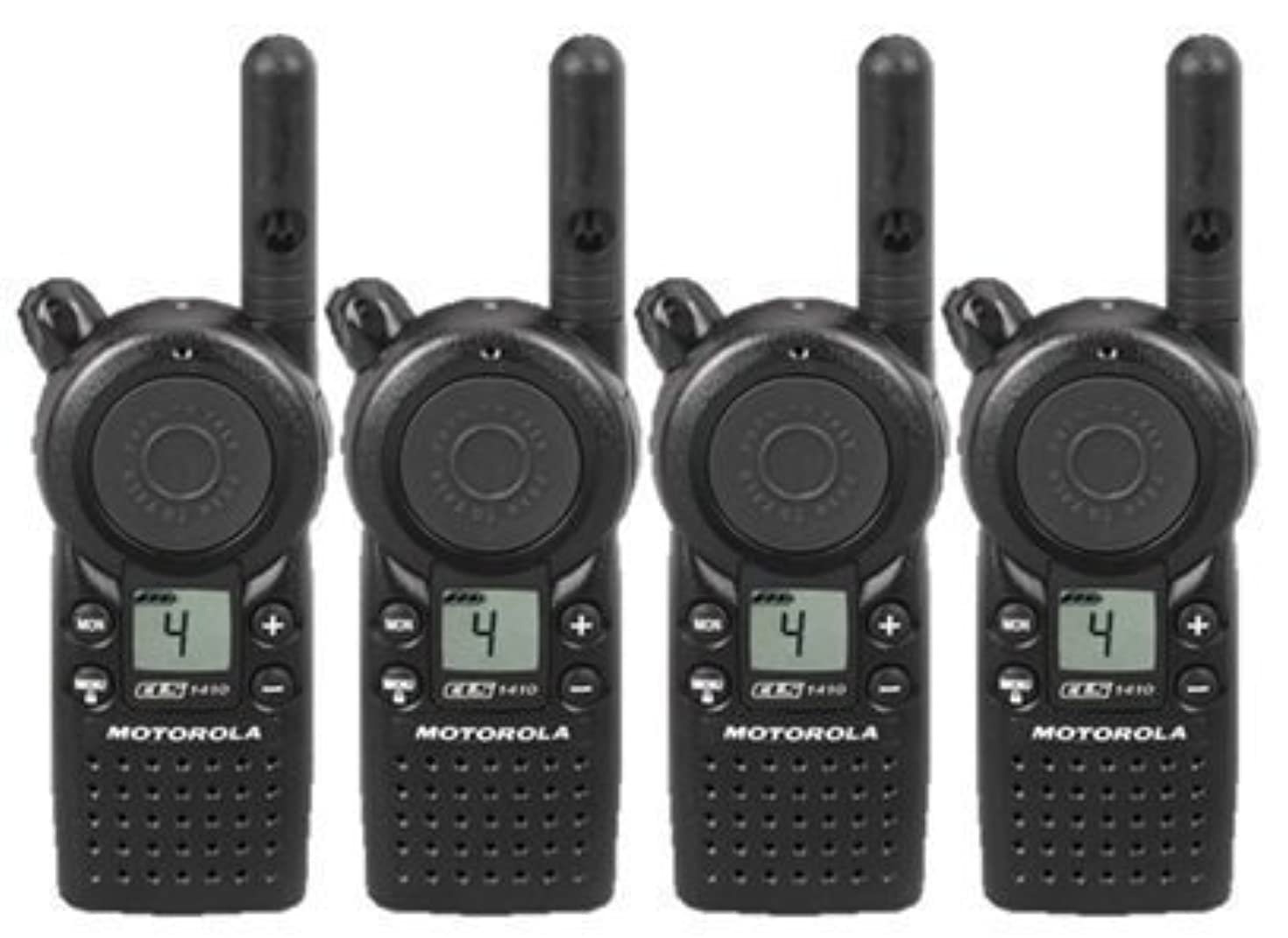 4 Pack of Motorola CLS1410 Two Way Radio Walkie Talkies (UHF)