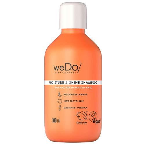 weDo/Professional Moisture & Shine Shampoo für normales bis strapaziertes Haar, 100 ml