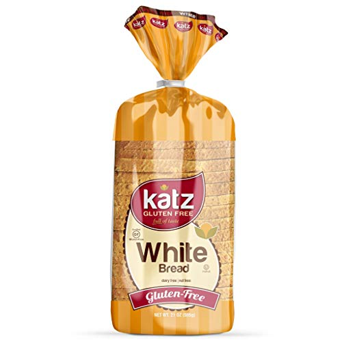 Katz Gluten Free White Bread | Dairy Free, Nut Free, Gluten Free | Kosher (6 Packs of 1 Sliced Loaf, 21 Ounce Each)