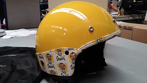 605959m05yl Helm Vespa Concept Vintage Gelb Größe XL 3Knöpfen