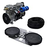 """HALF OFF PONDS Pro Deep Water Subsurface Air & Aeration System with (1) 3.9 CFM Rocking Piston Compressor, 100' of 3/8"""" Weighted Tubing and (1) Double-10 EPDM Self-Sinking Diffuser Disc Assembly"""