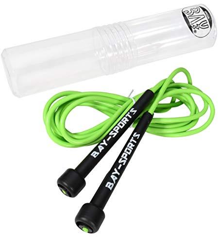 BAY Sports® GRÜN Nylon Neon Springseil 310 cm Jump Rope PVC Kunststoff Sprungseil Skipping Profi Seil Jumprope rosarot hellrot