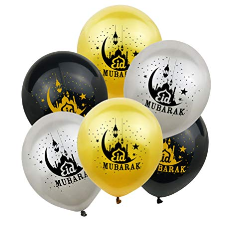 TOYANDONA 30pcs Eid Mubarak Balloon Party Decor for Ramadan Party