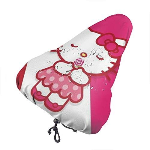 Fahrradsitzbezug, Kitty mit Rose Wasserdichter staubdichter Outdoor-Fahrradsattel Regenschutz