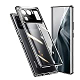 RAYOO Funda Compatible con Xiaomi Mi 11 Ultra 5G,360° Carcasa con Protector de Pantalla y Protector de Lente de Cámara Integrados,Adsorción Magnética Marco Protector Metal Full Body Case Cover,Negro