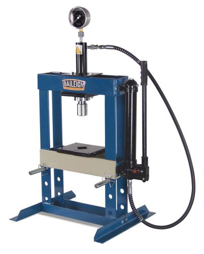 Baileigh HSP-10H Hydraulic Shop Press, 10 Ton Capacity, 13-1/2' Working Width