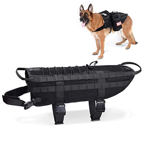 Tactical Dog Vest Training Molle Harness-Tactical...