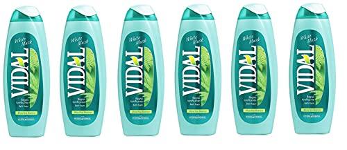 6 x Vidal Musc Blanc Blanc Mousse Mousse bains de bain Bath Shower Mousse 500 ml