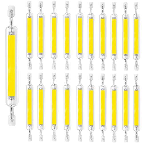 Regulable R7s LED 20W 118mm Bombilla halógena lineal 130-150W LED Lámpara de reflector de repuesto, tipo J J118 Base de doble extremo Blanco frío 6000K 1300-1500 Lumen Lámpara de ahorro de energía, Bl