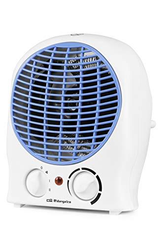 Orbegozo FH 5525 - Calefactor, 2 niveles de potencia, función ventilador aire frío, calor instantáneo, termostato regulable, 2000 W