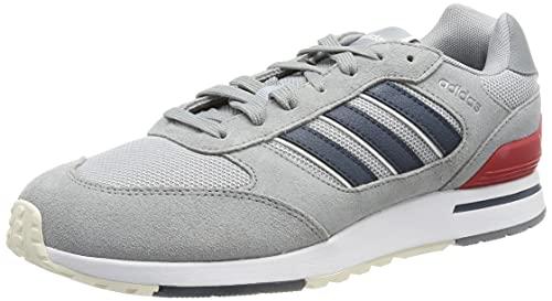 adidas Run 80s, Zapatillas de Running Hombre, Gris/AZMATR/PLAHAL, 43 1/3 EU