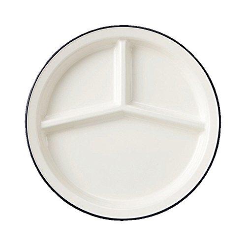 クラフトレシピ レトロ モーダ ランチ プレート 皿 NV 電子レンジ対応 食洗機対応 おしゃれ こども プラスチック 白 お皿 北欧 青 ランチプレート キッズ 子供 ベビー 仕切り レンジ 電子レンジ 洋食器 ケーキ皿 日本製 デザートプレート シンプ