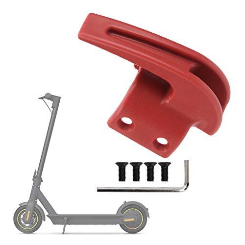 Alomejor Elektroroller-Vorderhaken, tragend 70 kg, Tragehaken-Montagesatz mit Befestigungsschraube für Hängetaschen Kompatibel mit Ninebot MAX G30(rot)