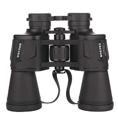 Cylficl Telescopio Profesional al Aire Libre Nivel de luz Baja Visión Nocturna No infrarrojo Ocular Grande Binocular HD Telescopio de Mano 20x50
