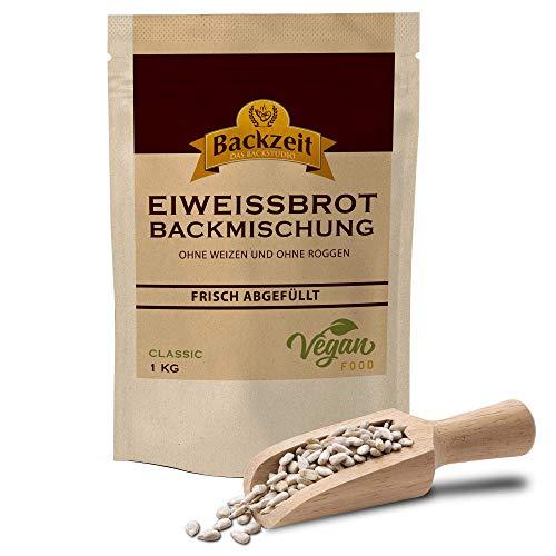 Eiweißbrot Backmischung Classic ohne Weizen und Roggenmehl - frisch abgefülltes in Deutschland hergestelltes Diabetikerbrot mit 90 % weniger Kohlenhydraten als Brot