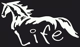 CCI Horse Life Decal Vinyl Sticker|Cars Trucks Vans Walls Laptop| White |7.5 x 4.5 in|CCI986