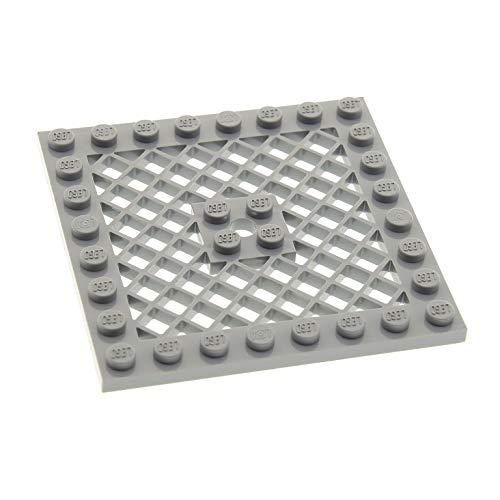 1 x Lego System Schutz Gitter Platte neu-hell grau 8x8 Bodenplatte mit Loch Star Wars 8077 7739 10247 7207 7596 7754 4151b