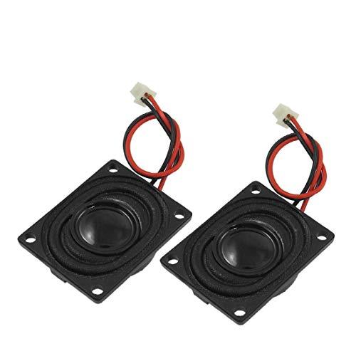 New Lon0167 2 Pcs 2W 8 Ohm Altoparlante magnetico interno 27mm x 20mm w Cavo(2 Stück 2W 8 Ohm interner Magnetlautsprecher 27 mn x 20 mn mit Kabel