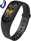 smartwatch fitness tracker uomo donna cardiofrequenzimetro da polso forza pedometro sport activity tracker (nero)