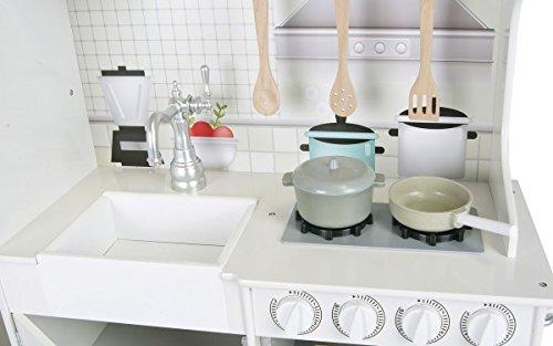 Unbekannt Leomark Holzküche Big Vintage Große Retro Küche aus Holz Kinderküche Spielküche Zubehör Kitchen Kinderspielküche Küchenspielzeug Spielzeug Küche aus Holz - 5