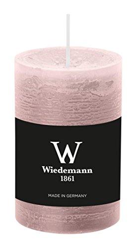 Wiedemann Marble Kerze durchgefärbt ASF, Wachs, Rosé, 9 x 5.8 cm, 8-Einheiten