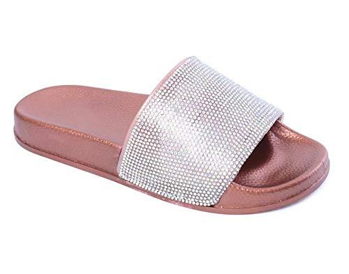 WDDNTX Slippers, Strass Vrouwen Slippers Flip Flops Zomer Slides Vrouwen Schoenen Crystal Diamond Beach Slides Sandalen Casual Schoenen Slip Op