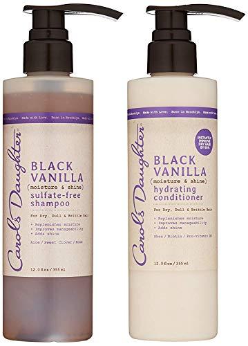 Carol's Daughter Black Vanilla Hair Care Gift Set for Dry/Dull & Brittle Hair, Kit 2