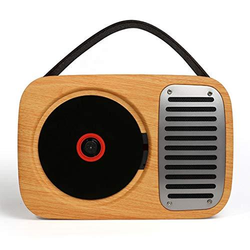 TMY Reproductor de CD portátil Montado en la Pared Exterior de CD Reproductor de CD portátil Retro Reproductor Walkman Inicio Altavoz Bluetooth Gramophone Reproductores de CD Reproductor de música