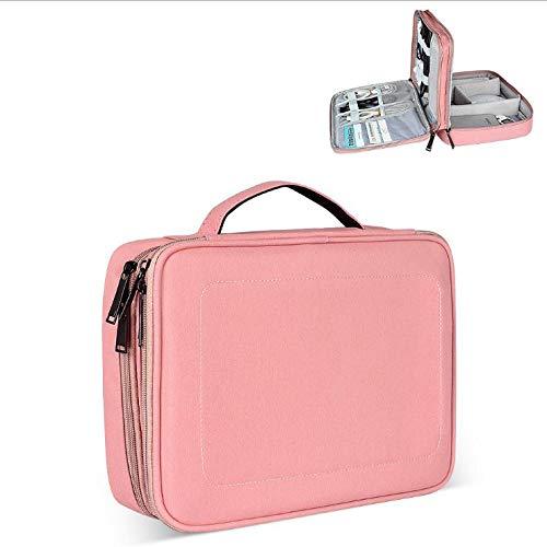 Sac à cosmétiques Accessoires Sac de Rangement Sac Double Couche Multi-Fonction Grande capacité Sac étanche en Nylon-Pink_big_30 * 8 * 22cm