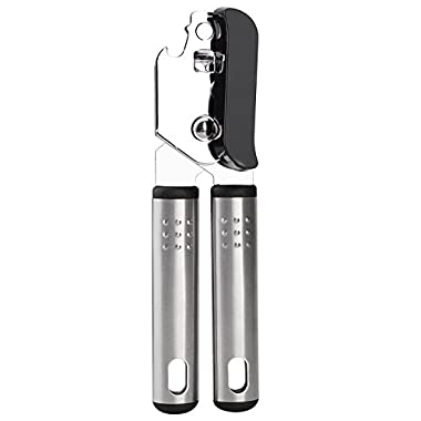 Can Opener, Stainless Steel Can Opener Manual Heavy Duty Tin Opener with Lids off Dishwasher Safe Can Opener Smooth Edge with Comfortable Ergonomic Non-Slip Handles Easy to Operate for Seniors