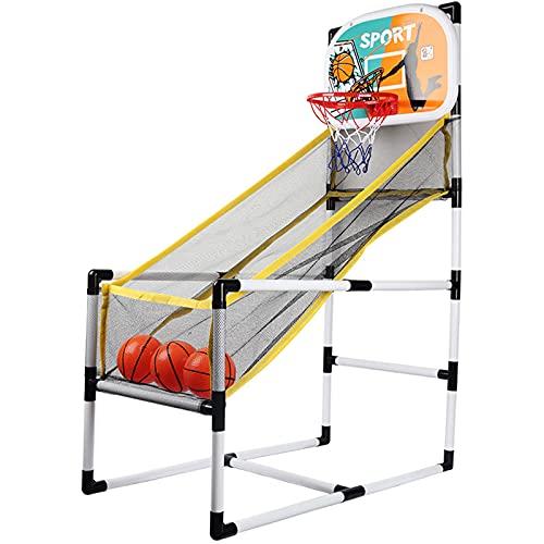 PBTRM Canasta Baloncesto Infantil, Aro Baloncesto Arcade para Niños, Mini Sistema Tiro Baloncesto, con 3 Pelotas, para Interior Y Exterior, Juego Deportivo para Niños Y Niñas