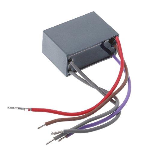 FXCO CBB61 Condensador de Ventilador de Techo, Condensador de Ventilador, Condensador de Arranque, 4,5 uf, 6 uf, 5 Cables, 250 V, 5 velocidades