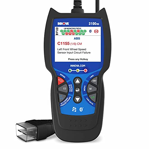 INNOVA 3100RS Car Code Scanner - Code Reader Car Diagnostic Tool - OBD2 Scanner - Smog Test Scan Tool - SRS & Oil Light Reset - RepairSolutions2 App