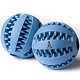 PetsFellow 2-Pack Dog Ball Toy for Pet Tooth Cleaning, Chewing, IQ...