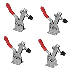 POWERTEC Quick Release Horizontal Heavy Duty Toggle Clamp with Rubber Pressure Tip