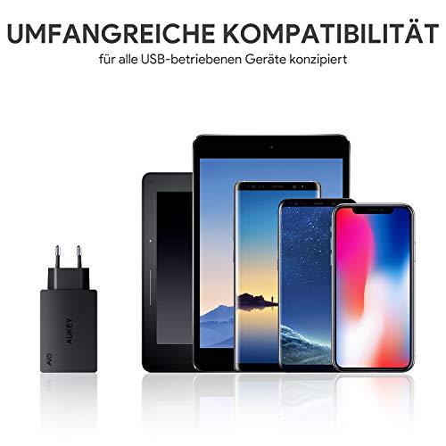AUKEY USB Ladegerät 3 Ports 30W 6A mit AiPower Technologie Wandladegerät für iPhone X / 8 / 8 Plus, iPad Air / Pro, Samsung, LG, HTC, Nexus usw.