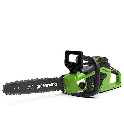 Greenworks Motosierra de batería GD40CS15K25 (Li-Ion 40V 12 m/s velocidad de la cadena, 35 cm longitud de sable, 180 ml tanque de aceite, potente motor sin escobillas con batería de 2.5 Ah y cargador)