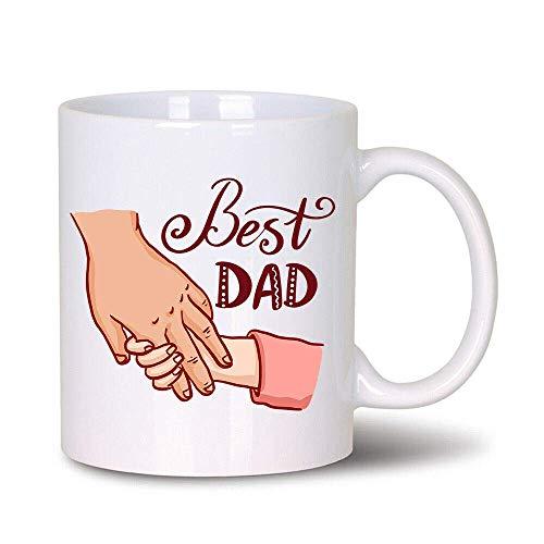 Best Dad C0ffee Mug 0ffice - Taza blanca (11 oz)