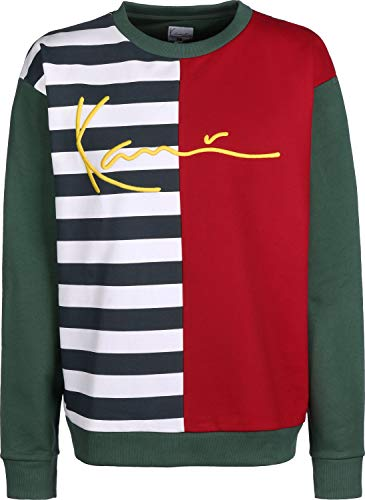 Karl Kani Signature Block Sudadera Navy/White/Red/Green