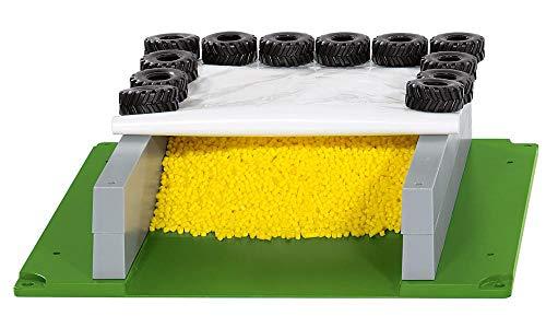 siku 5606, Fahrsilo mit Plane, Reifen und Granulat, Kunststoff, Multicolor, Ideal für den Farmbereich