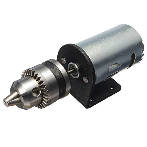 RFElettronica, Motor DC 12-36 V para torno press 555 con husillo para taladro manual en miniatura y soporte de montaje