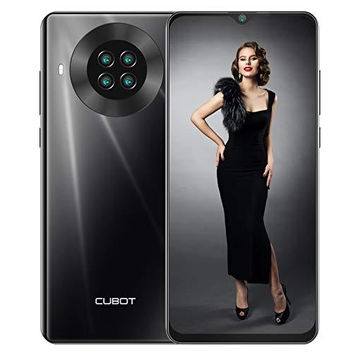 CUBOT Note 20 pro Smartphone ohne Vertrag 6 + 128 GB, 6,5 Zoll HD Wassertropfen Display, 4200mAh Akku, 20MP AI Quad-Kamera, 4G LET Dual SIM Handy Android 10.0 NFC Face ID(Schwarz)