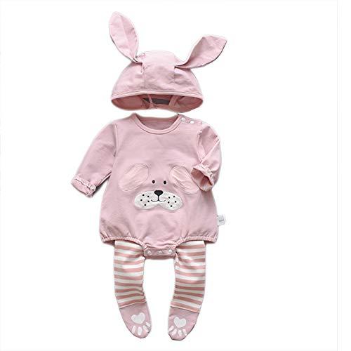 ETbotu baby meisje kleding, baby kleding - schattig lange mouwen Rompers voor pasgeboren baby klimmen pak hoed onderbroek driedelige pak